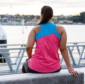 Dawn Awakening! in Razzle Dazzle Tank... Plus size activewear - sizes 16-26 Made & designed in Australia #blitzactive #blitzactivewear #plussizeactivewear #plussizefashion #plussizeworkout