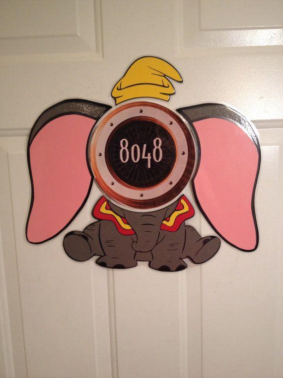 Dumbo The Flying Elephant Body Part Stateroom Door Magnets