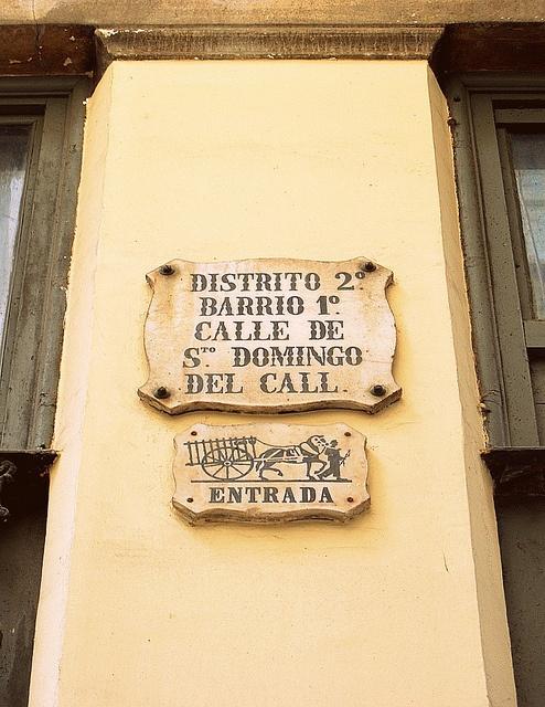 Placas Antiguas de Calles de Barcelona