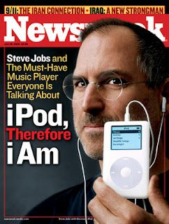 Steve Jobs and Apple changed the world's culture with their computer. But he really topped himself with Itunes and the Ipod. No more albums but a little electronic device to hold all your music. Newsweek went in-depth to explain what the Ipod is and does. Who would be able to function now without their personal electronic device?