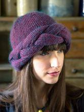 Mona braided hat FREE knitting pattern | Berroco