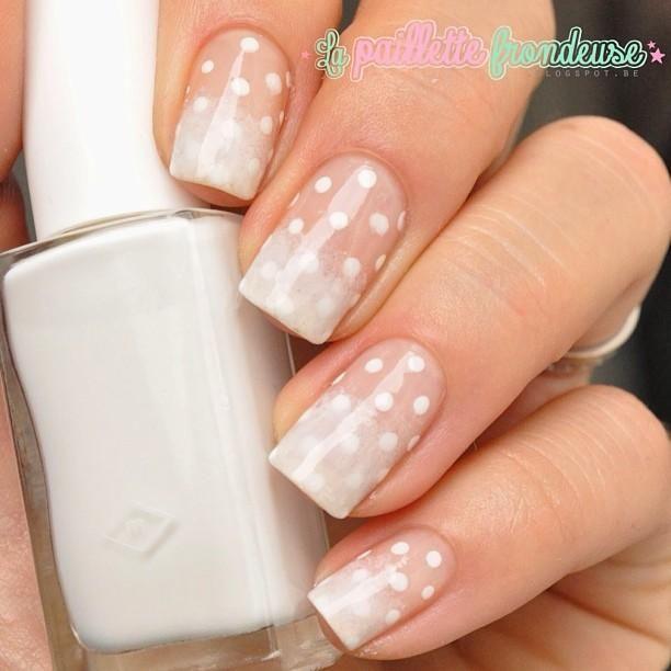 Simple N classy polka dot nail art