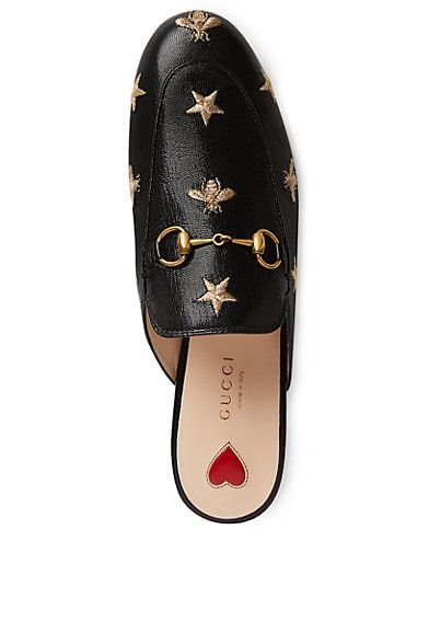 74e828f56 Gucci Princetown Embroidered Leather Slippers - Flats - 505429041 | Shoes  II in 2019 | Sapatos