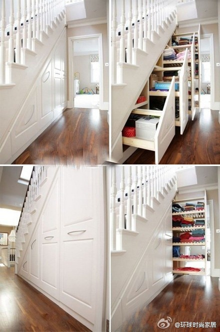 storage space under stairs!
