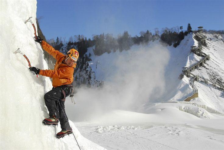 Escalade de glace à la chute Montmorency / Québec