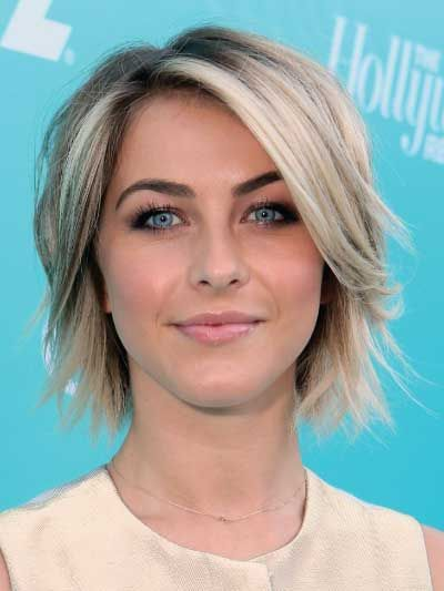 Juliana Hough with a Short Textured Bob