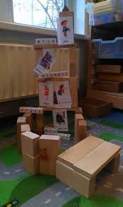 bouwen in de bouwhoek met kaarten