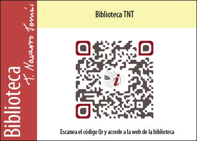 Código QR de acceso a la página web de Biblioteca Tomás Navarro Tomás.