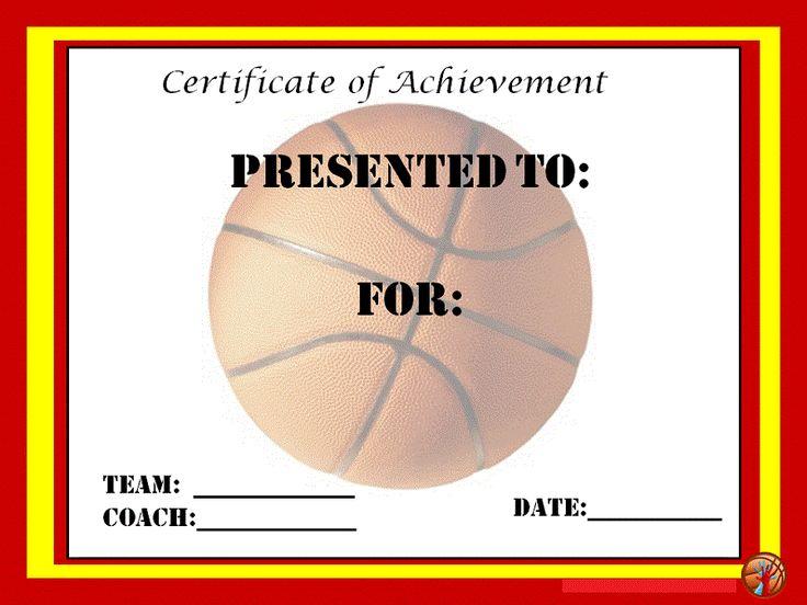 basketball certificate templates - basketball award certificate to print activity shelter