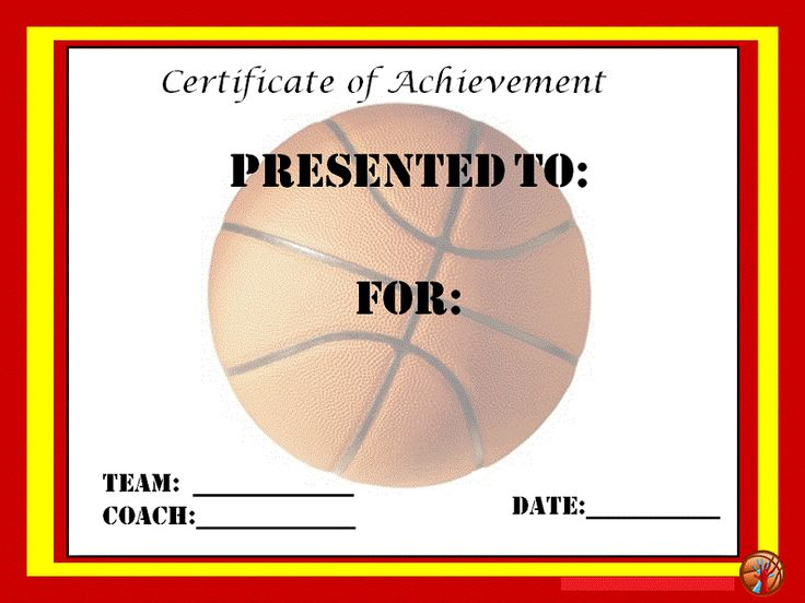 44 best images about Blank Certificate Templates – Basketball Certificate Template