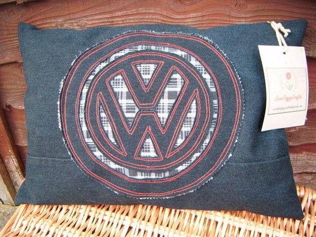 VW - Slashstitch Embroidery Picnic Cushion £18.00
