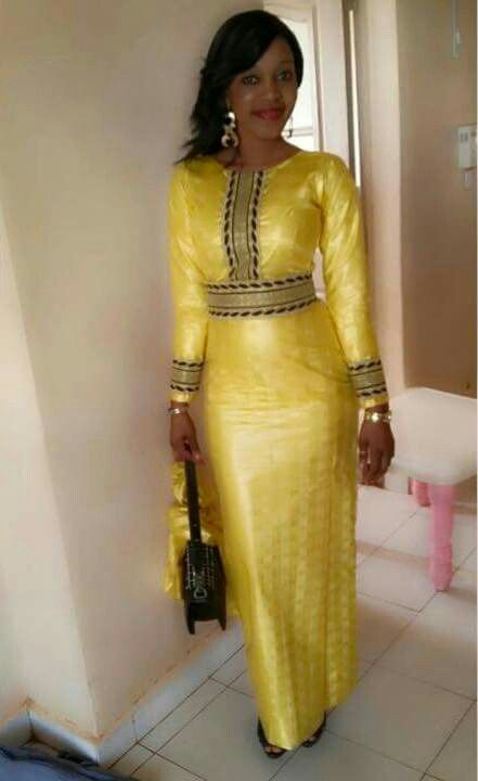 Robe ceinturée ~African fashion, Ankara, kitenge, African women dresses, African prints, African men's fashion, Nigerian style, Ghanaian fashion ~DKK