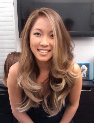 Pearl blonde ombre on asian hair | Yelp