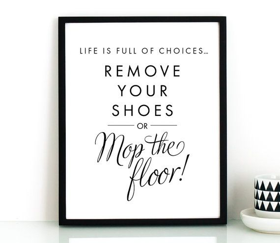 Remove your shoes sign PRINTABLE arttake shoes by TheCrownPrints