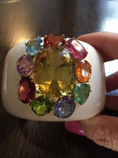 Margot McKinney coloured gemstone cuff