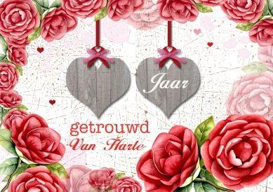 Zoveel jaar getrouwd trouwkaart van Geertje Burgers versturen bij Kaartwereld: 20% korting bij het maken van een gratis account.