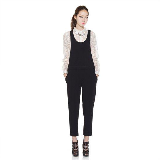 Simple Boxy Jump Suit 모델 전신 앞모습 | asian celebrity style ...