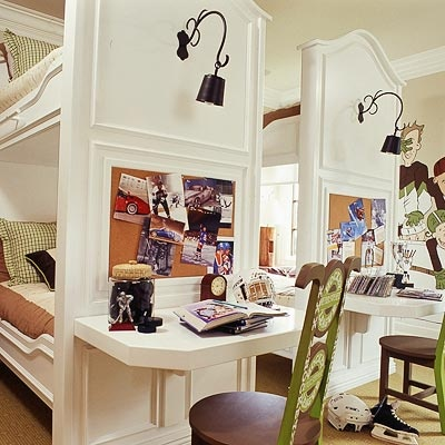 junkgarden: KIDS WEEK: TIME FOR HOMEWORK Could we make a desk station at the end of the bunk beds? @Ryan O'Donnell
