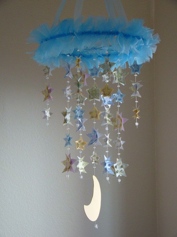 Nursery Ideas: I had my room decorated in stars and moons growing up.  My little brothers had it in their nursery.  My mom saved all the stuff.  Stars and moons are uni-sex.