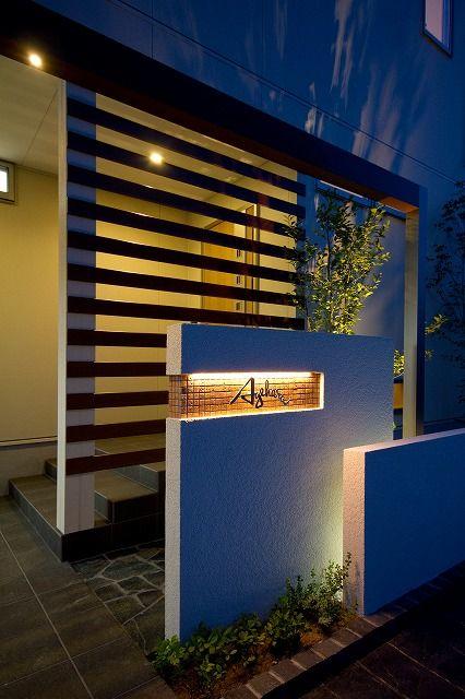 狭い空間を広く見せる。モニュメント×光で、奥行きのあるドラマティックな空間に。 #lightingmeister #gardenlighting #outdoorlighting #exterior #garden #lightup #pinterest #narrow #wide #depth #house #home #entrance #狭い #広い #奥行き #家 #庭 #玄関