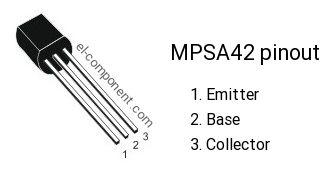 MPSA42 transistor pinout