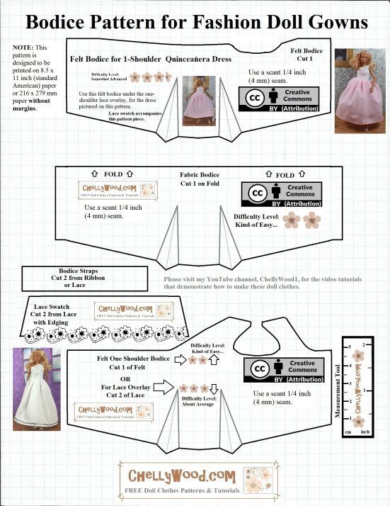 Please visit ChellyWood.com for FREE printable sewing patterns for ...