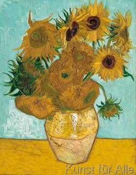 Vincent van Gogh - Vase mit Sonnenblumen