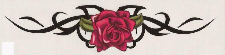 Armband Maori rose tattoo stencil