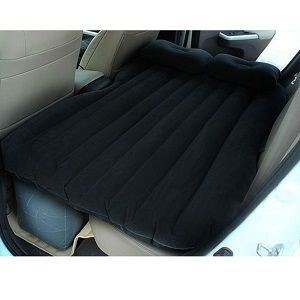 Car Travel Inflatable Mattress, Inflatable Bed Backseat of Car. Air bed inflation travel thicker inflatable air mattress for back seat of SUV or Car. Sleeping in your car was never so comfortable with one of these backseat air beds for your car. The IAN car travel cushion air bed has a soft and comfortable micro-fluffy feather feeling surface.