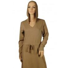 Mocha one piece Hoody Abaya
