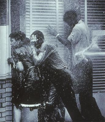 1964, Civil Rights workers being hosed in Alabama.  Tales from my childhood.  I was 16, black and visiting my family in Alabama. I knew then that I was the dream of the slave.