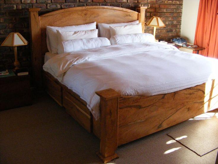 Wild olive wood bed