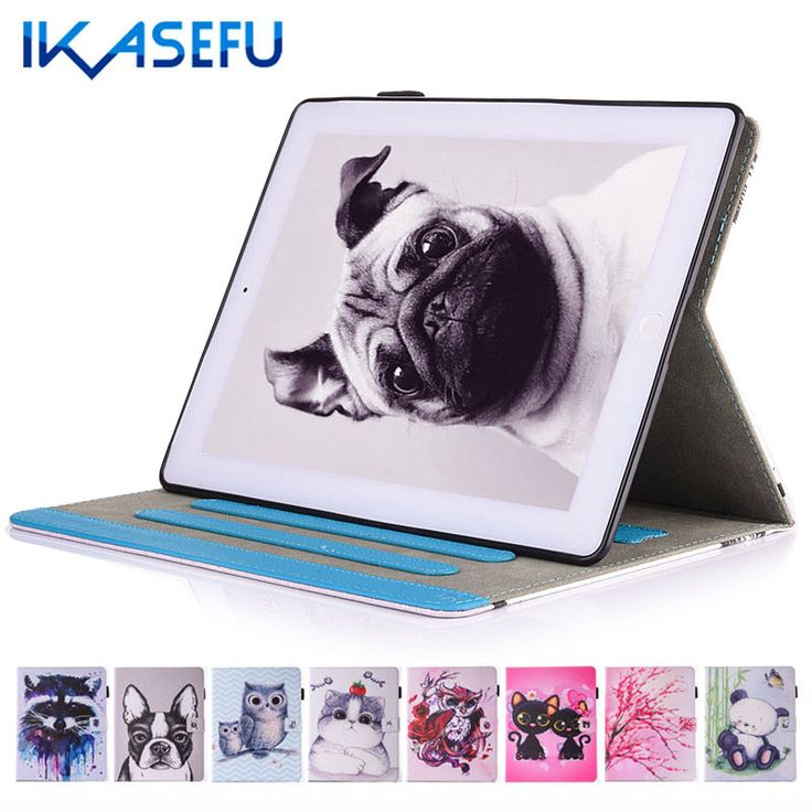 Ikasefu painting filp stand cover case for apple ipad 2 3