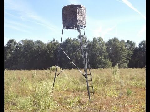 Ameristep 15 Foot Deer Stand Hunting Tripod - YouTube