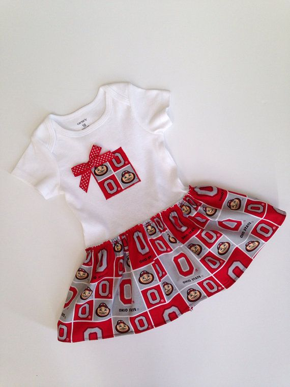 Hey, I found this really awesome Etsy listing at https://www.etsy.com/listing/155232820/skirted-ohio-state-bodysuit-buckeye-baby