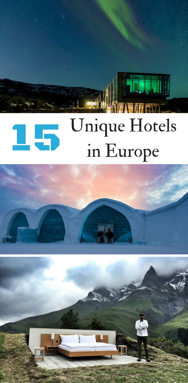 Find unique hotels in Europe for your next vacation. Where to stay in Europe for a one of a kind experience.