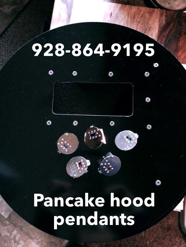 Pancake welding hood pendants