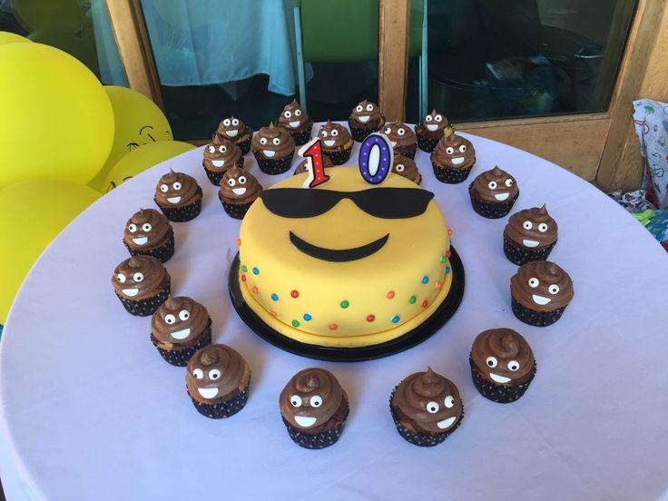 Emoji cakes and cupcakes