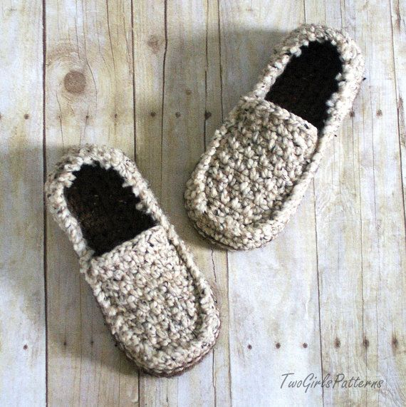 Crochet Pattern for Super Pack of Mens Loafers - Crochet Pattern 122 - Instant Download