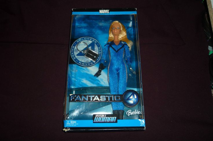 "2005 Mattel Barbie Doll Marvel Fantastic Four 4 Invisible Woman 11"" Figure NRFB  #Mattel #Dolls"