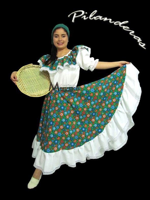 trajes tipicos de colombia pilanderas