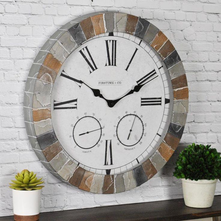 FirsTime Garden Stone Outdoor Clock-99670 - The Home Depot