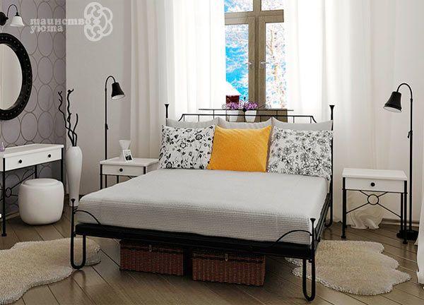 кованные черно-белые кровати в интерьере - Поиск в Google