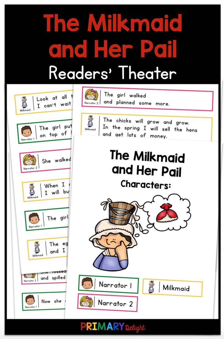 The Milkmaid And Her Pail Readers Theater Readers Theater