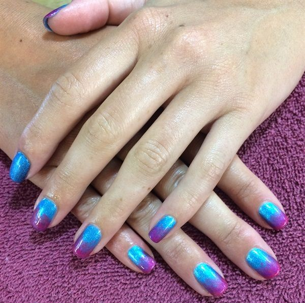 Day 217: Cool Ombre Nail Art