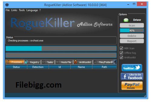 Free Download Software RogueKiller 10.10.5.0 - filebigg.com
