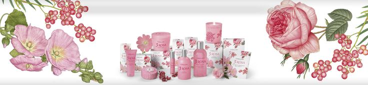 Parfüm Lerbolario naturkozmetikumok - 3 Rózsa Parfüm és kozmetikum család Mályvarózsa és Provence-i rózsa illattal