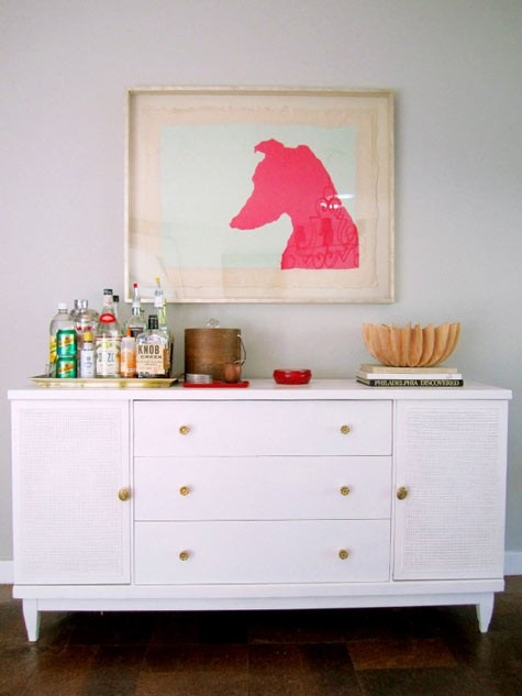 Great bar idea! Gonna do this in my living room.: Pink Dog, Decor, Interior, Ideas, Dining Room, Dogs, Bar Carts, Diy