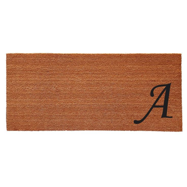 Made of natural coir with vinyl backing, this contemporary doormat makes an elegantly simple, yet chic addition to home decor.  Over-sized for larger areas, this easy care monogrammed doormat keeps debris from your home while looking smart and stylish.
