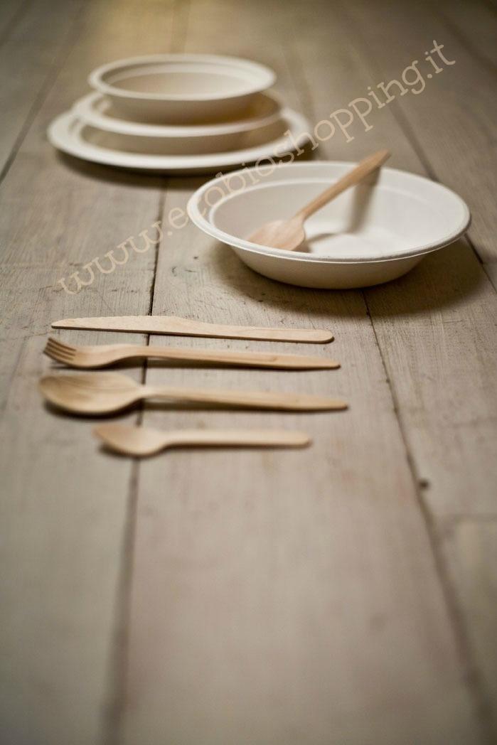 Posateria in legno, piatti in polpa di cellulosa #biodegradabile #compostabile #legnodibetulla  http://www.ecobioshopping.it/